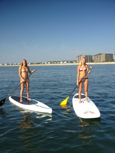 Stand Up Paddle boarding on the Ocean