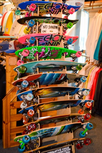 Skateboards at Bethany Surf Shop
